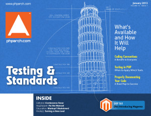 php|architect January 2013 - Standards and Testing