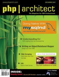 php|architect – December 2007