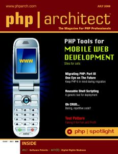 php|architect – July 2008