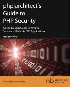 Book cover for php|architect's Guide to PHP Security