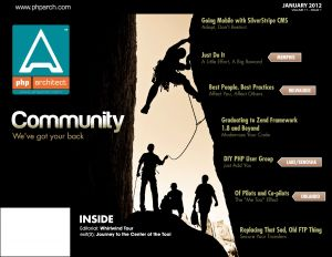 January 2012 Cover: Community