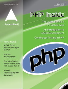 php[architect] — June 2013