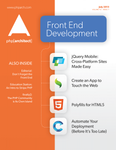 php|architect July 2013 - Front End Development
