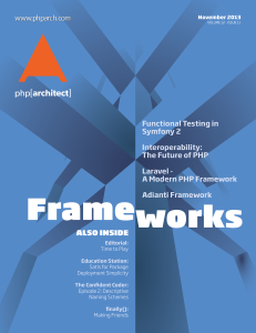 php[architect] — November 2013