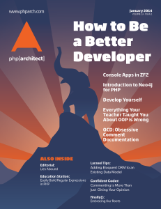 php[architect] — January 2014