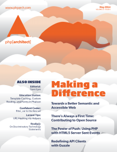php[architect] May 2014 - Making a Difference