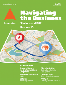 php[architect] July 2014 - Navigating the Business