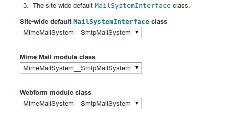 Mail System settings for Webform Module