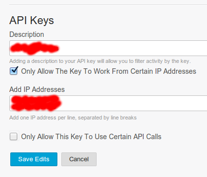 Create a Mandrill API Key