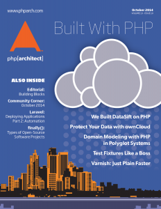 October 2014 Cover - Built with PHP
