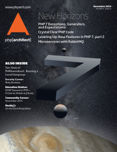 November 2015 Magazine Issue cover