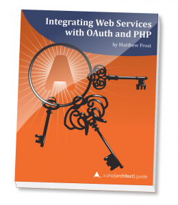 Book cover for Integrating Web Services with OAuth and PHP