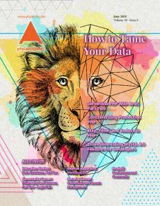 Magazine cover for June 2019 shows a lion drawing