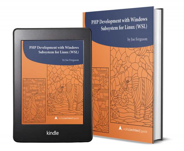 PHP WSL Book on Tablet Image