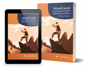 "Digital and print editions of ""Beyond Laravel"" book"